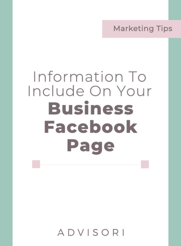 Information to Include on Your Business Facebook Page