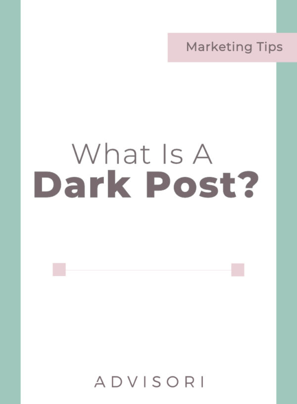 What is a dark post?