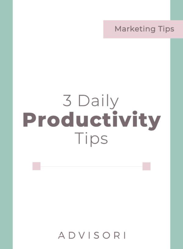 3 Daily Productivity Tricks