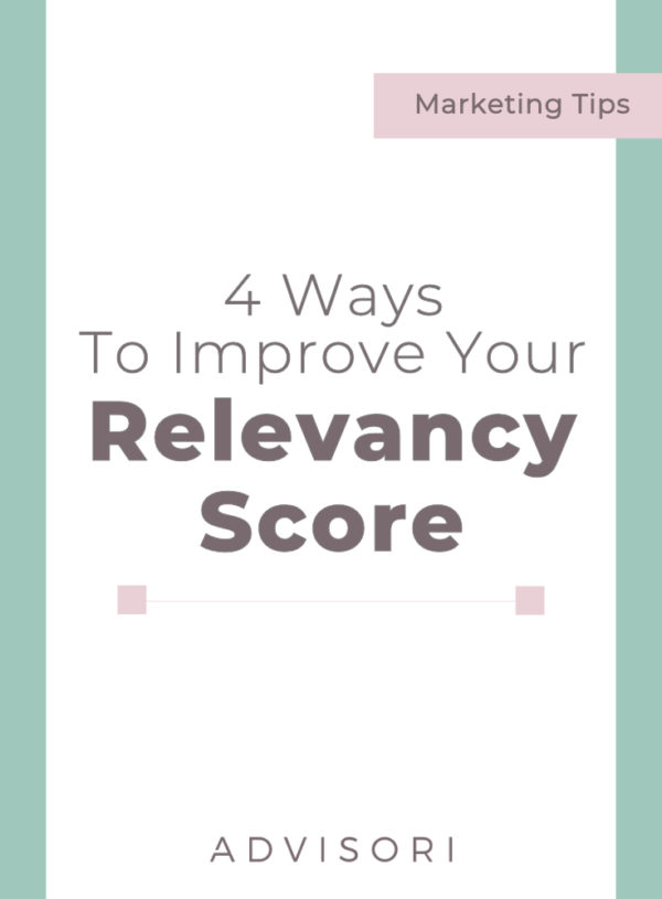 4 Ways to Improve Your Relevancy Score