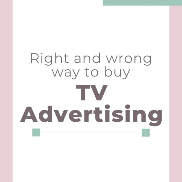 Right and Wrong way to buy TV Advertising #digitalmarketing #tvadvertising #smallbusinesstips