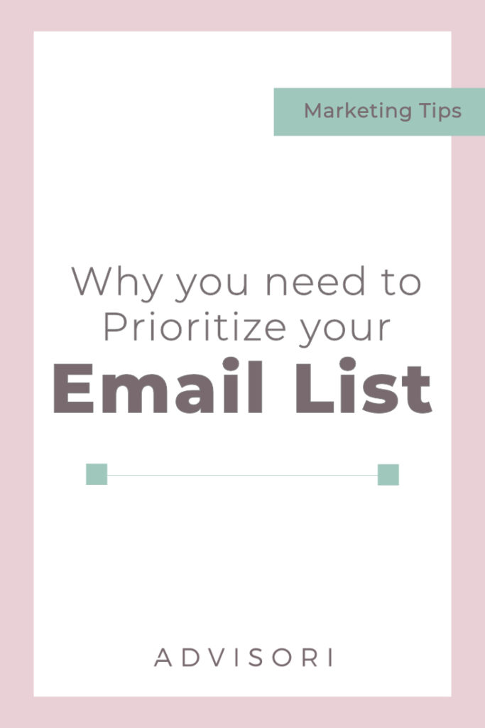 Prioritize your email list   Email Marketing   Grow your email list   Small Business Tips   #emailmarketing