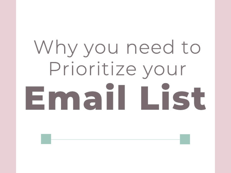 Prioritize your email list | Email Marketing | Grow your email list | Small Business Tips | #emailmarketing