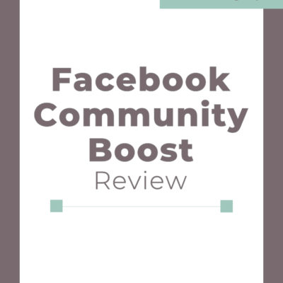 Facebook Community Boost Review