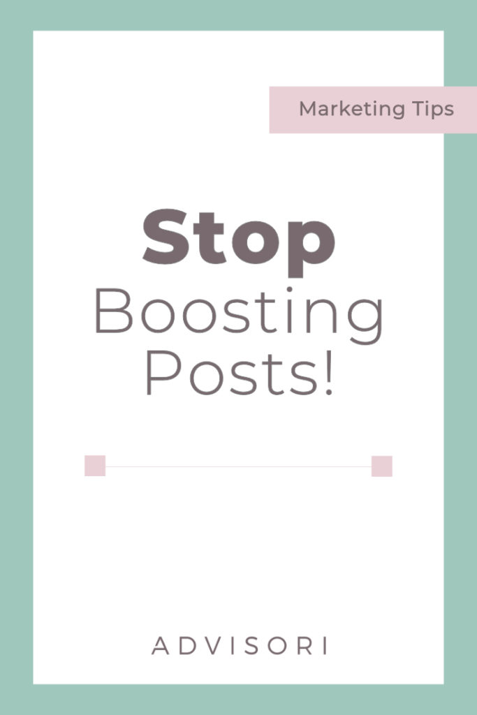Stop Boosting Posts | Digital Marketing | Facebook Ads | Small Business Tips #facebookads